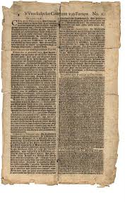 DeOpreghte site Weeckelijke Courante van Europa 1656