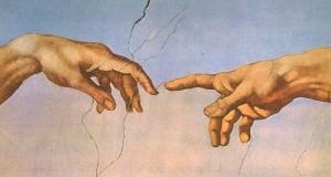 De bemiddelaar kan mensen helpen elkaars standpunt te begrijpen. Foto fragment muurschildering Michelangelo in Sixtijnse Kapel in Rome.